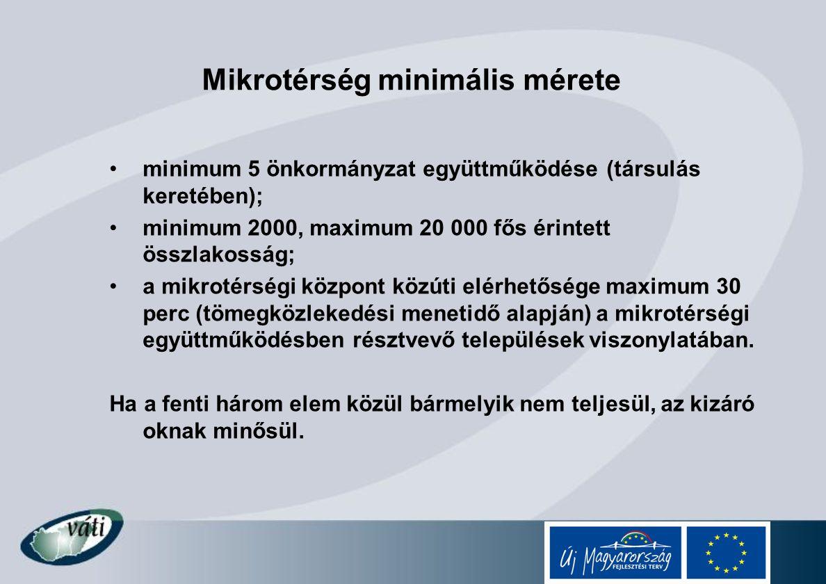 Mikrotérség minimális mérete