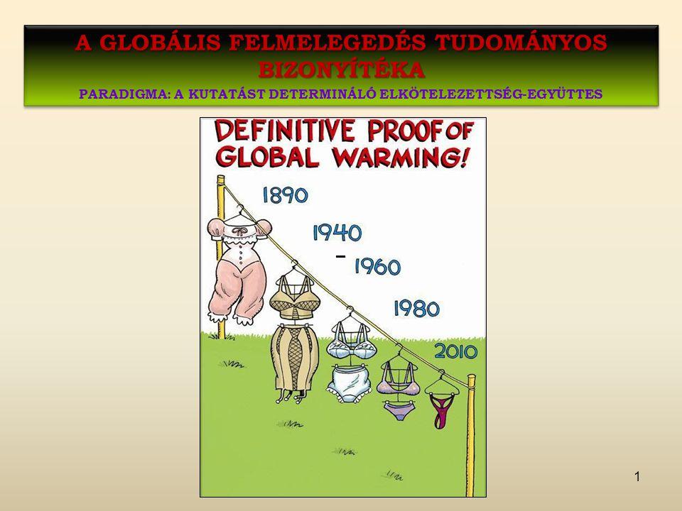 A globális felmelegedés tudományos bizonyítéka