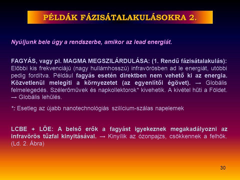 PÉLDÁK FÁZISÁTALAKULÁSOKRA 2.