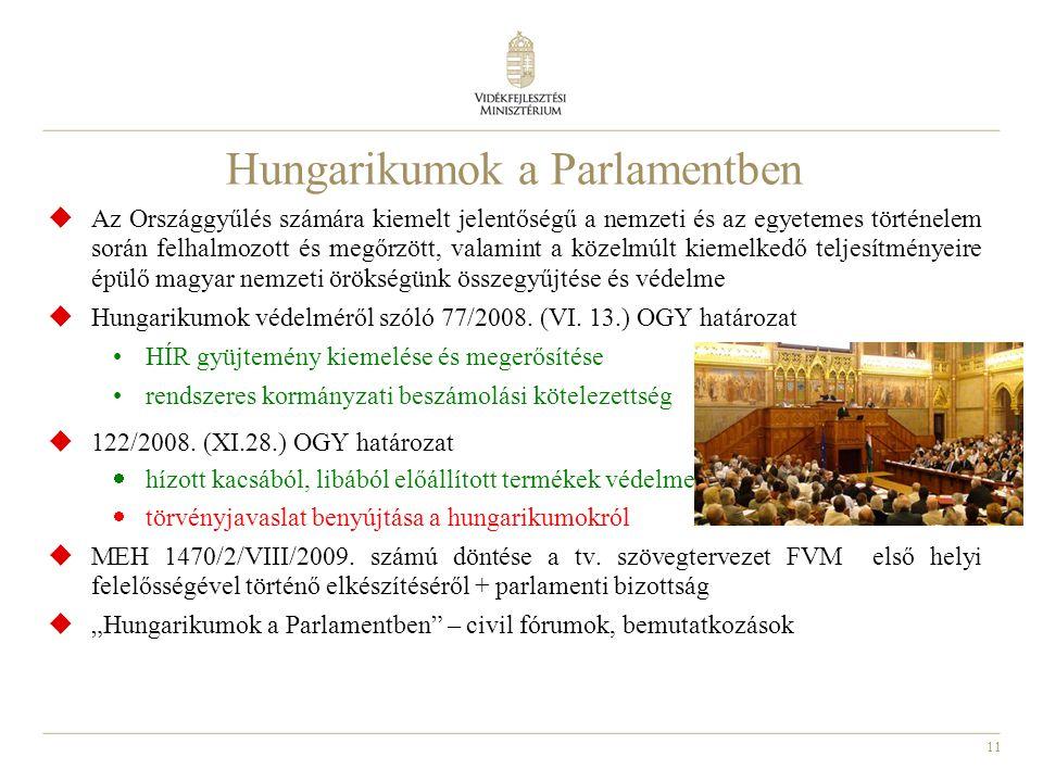 Hungarikumok a Parlamentben