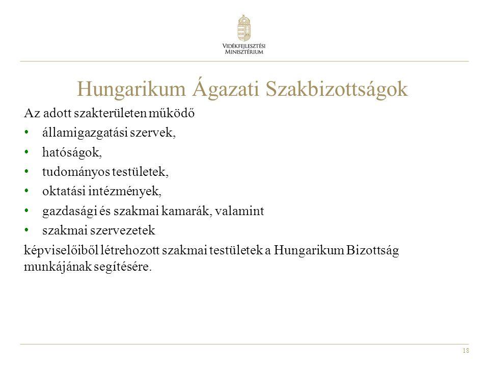 Hungarikum Ágazati Szakbizottságok
