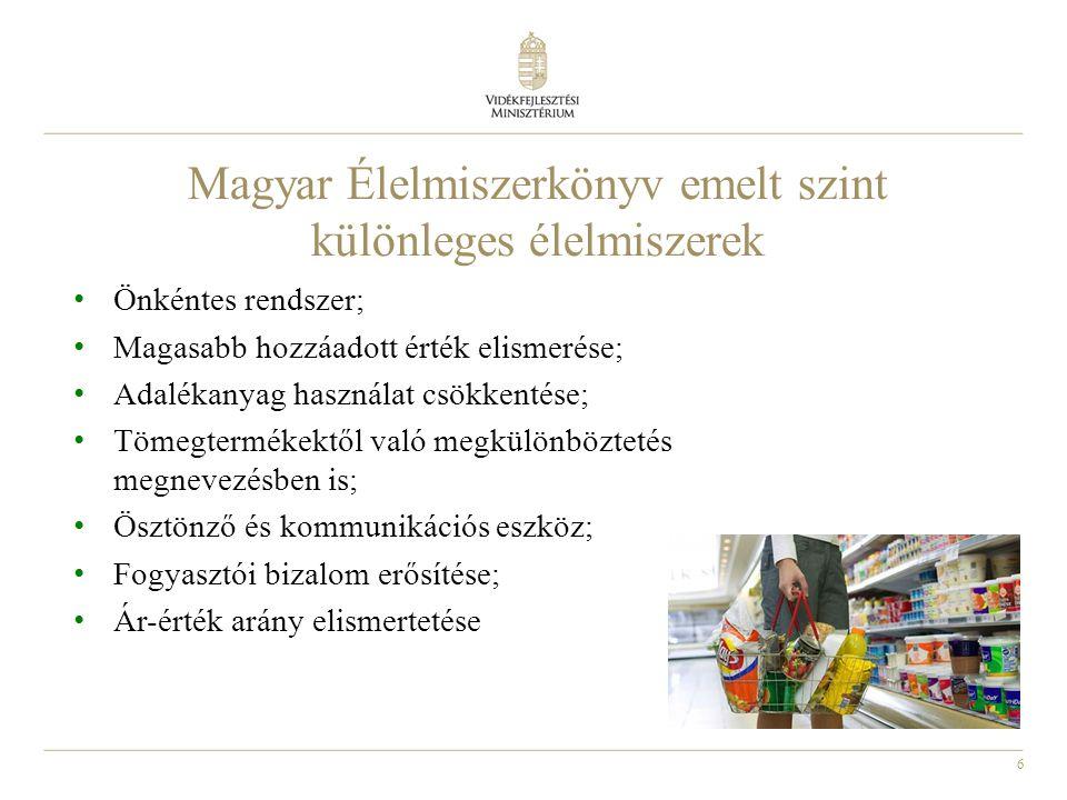 Magyar Élelmiszerkönyv emelt szint különleges élelmiszerek