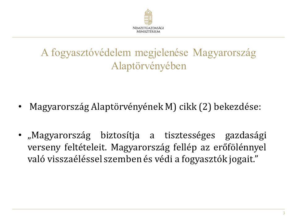 A fogyasztóvédelem megjelenése Magyarország Alaptörvényében
