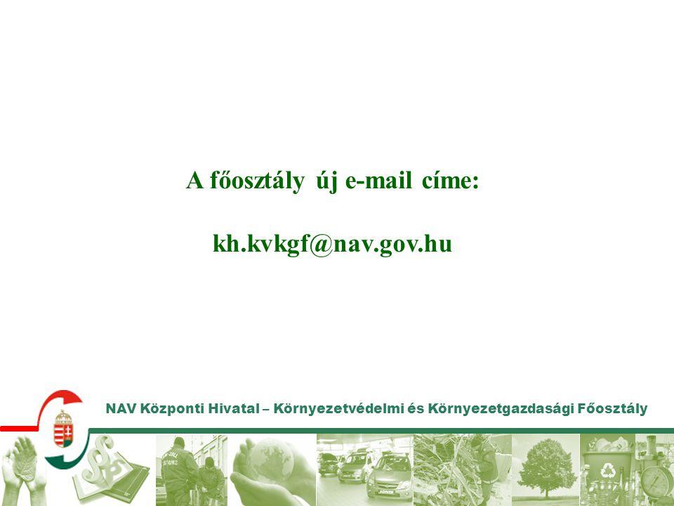 A főosztály új e-mail címe: