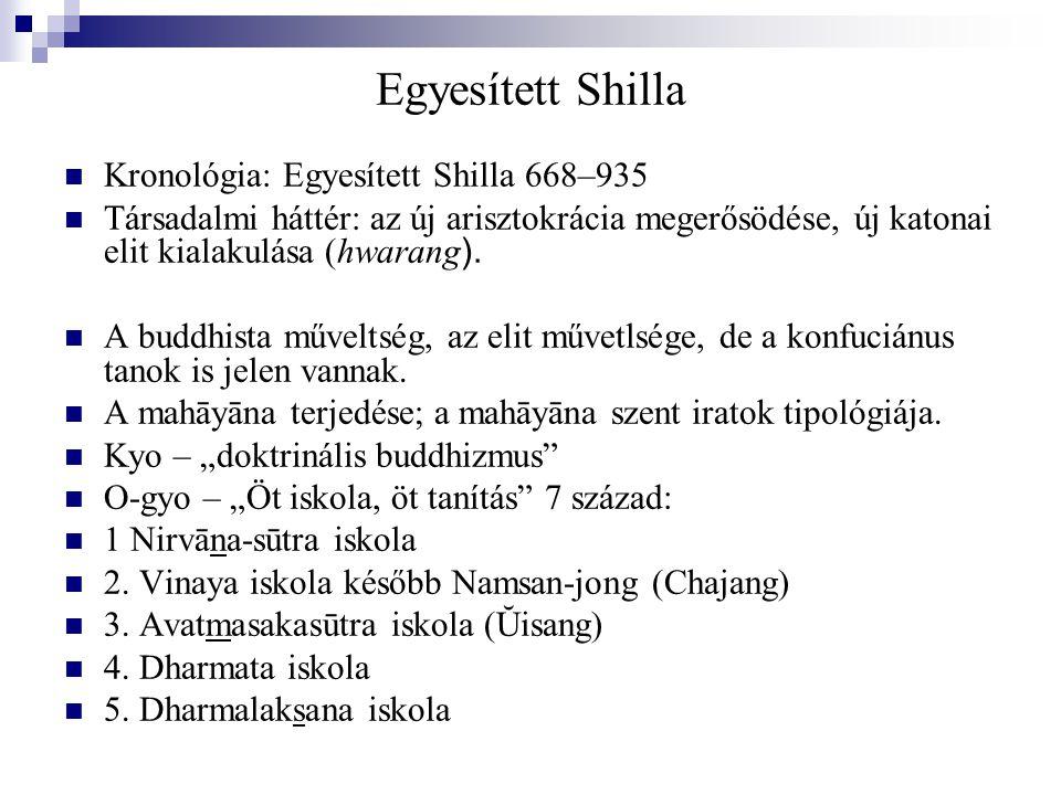 Egyesített Shilla Kronológia: Egyesített Shilla 668–935