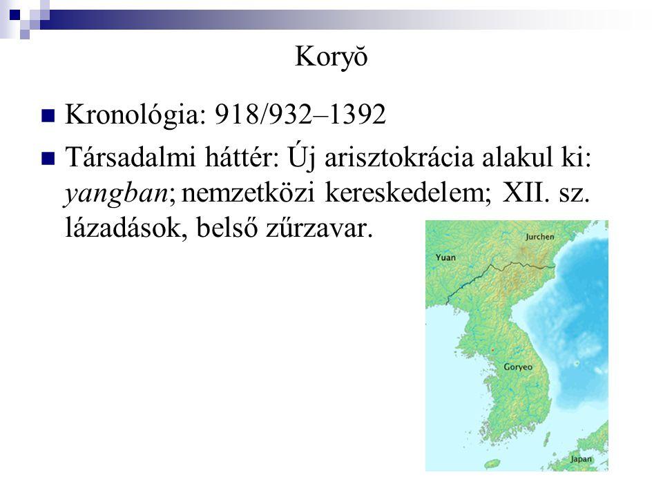 Koryŏ Kronológia: 918/932–1392.