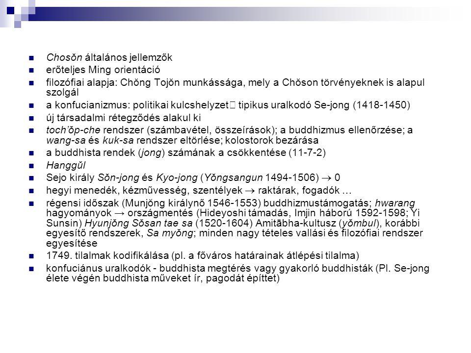 Chosŏn általános jellemzők