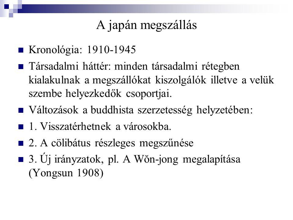 A japán megszállás Kronológia: 1910-1945