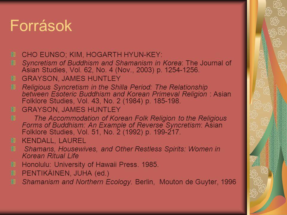 Források CHO EUNSO; KIM, HOGARTH HYUN-KEY: