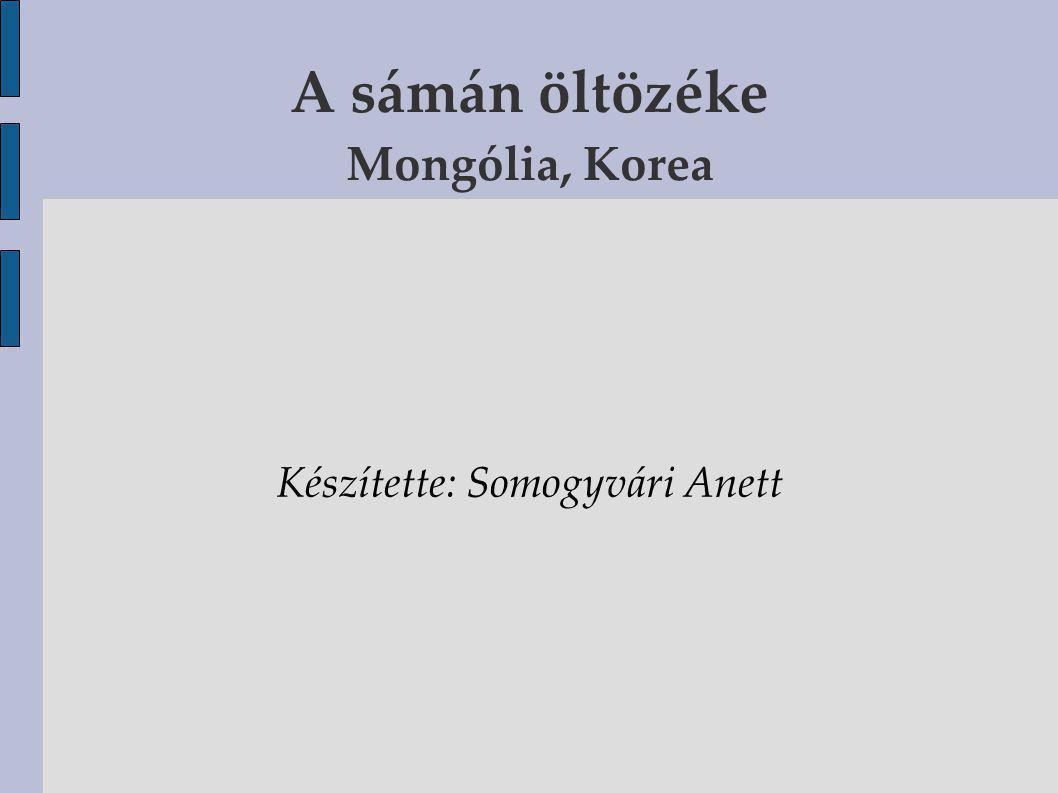 A sámán öltözéke Mongólia, Korea