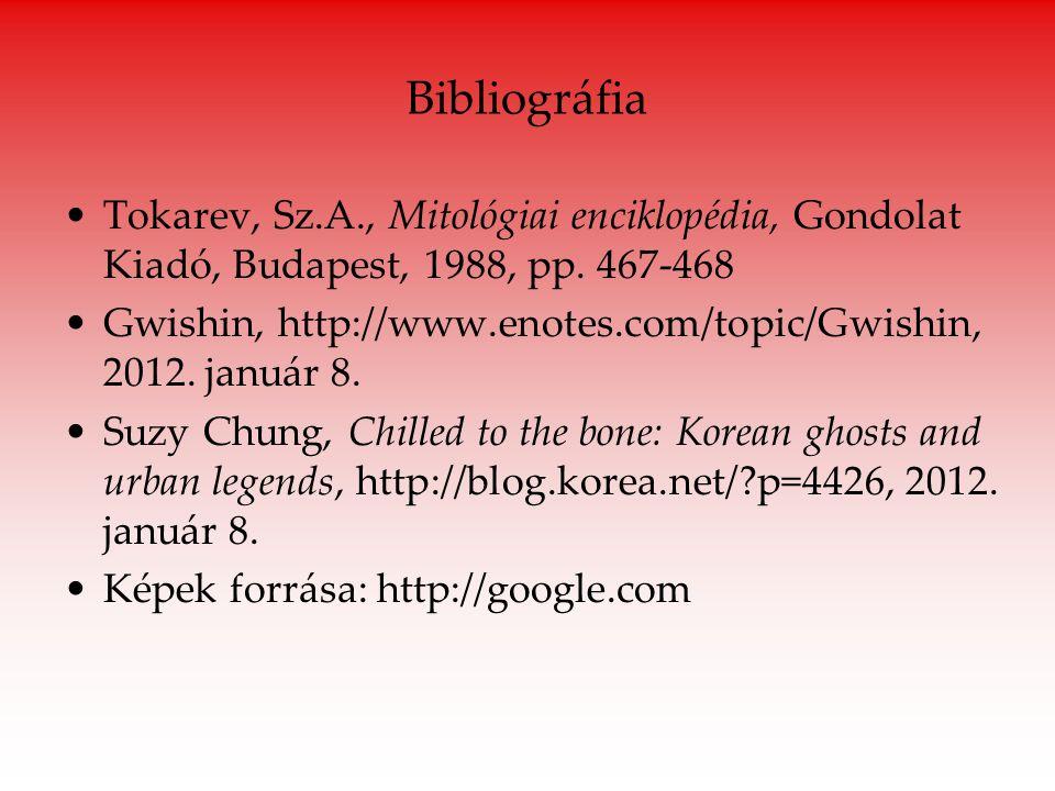 Bibliográfia Tokarev, Sz.A., Mitológiai enciklopédia, Gondolat Kiadó, Budapest, 1988, pp. 467-468.