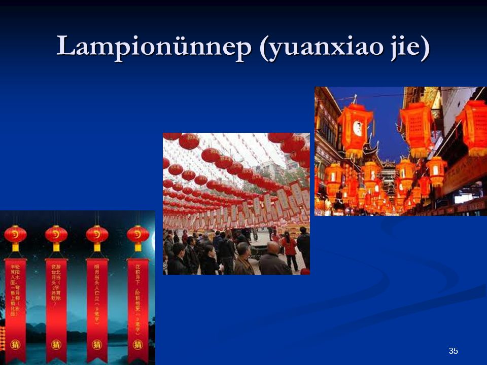 Lampionünnep (yuanxiao jie)