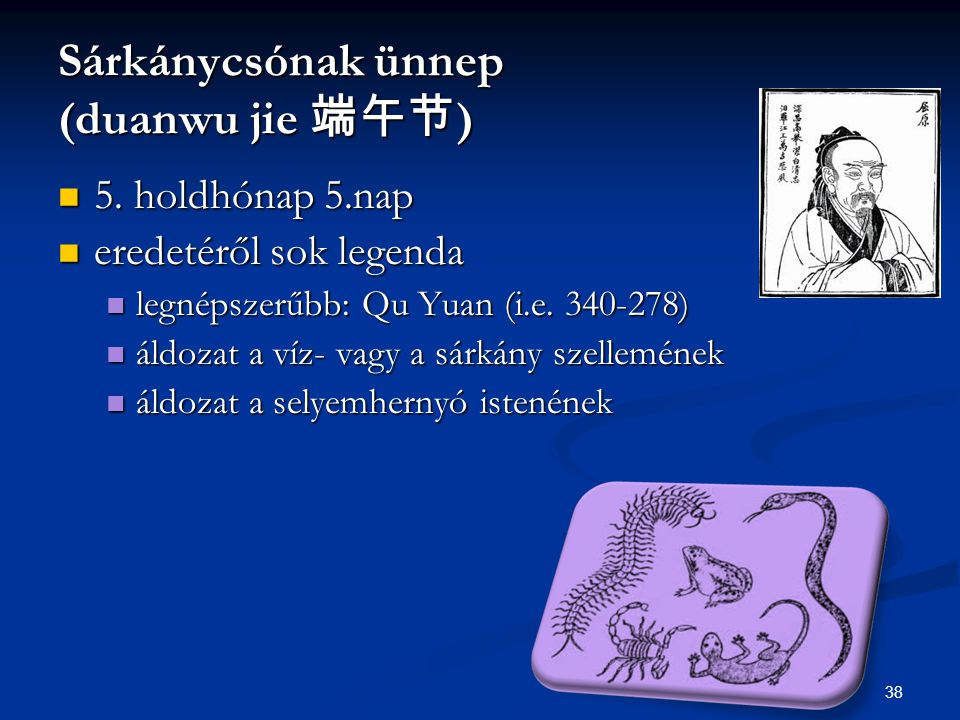 Sárkánycsónak ünnep (duanwu jie 端午节)
