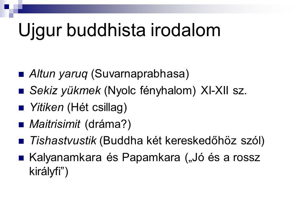Ujgur buddhista irodalom