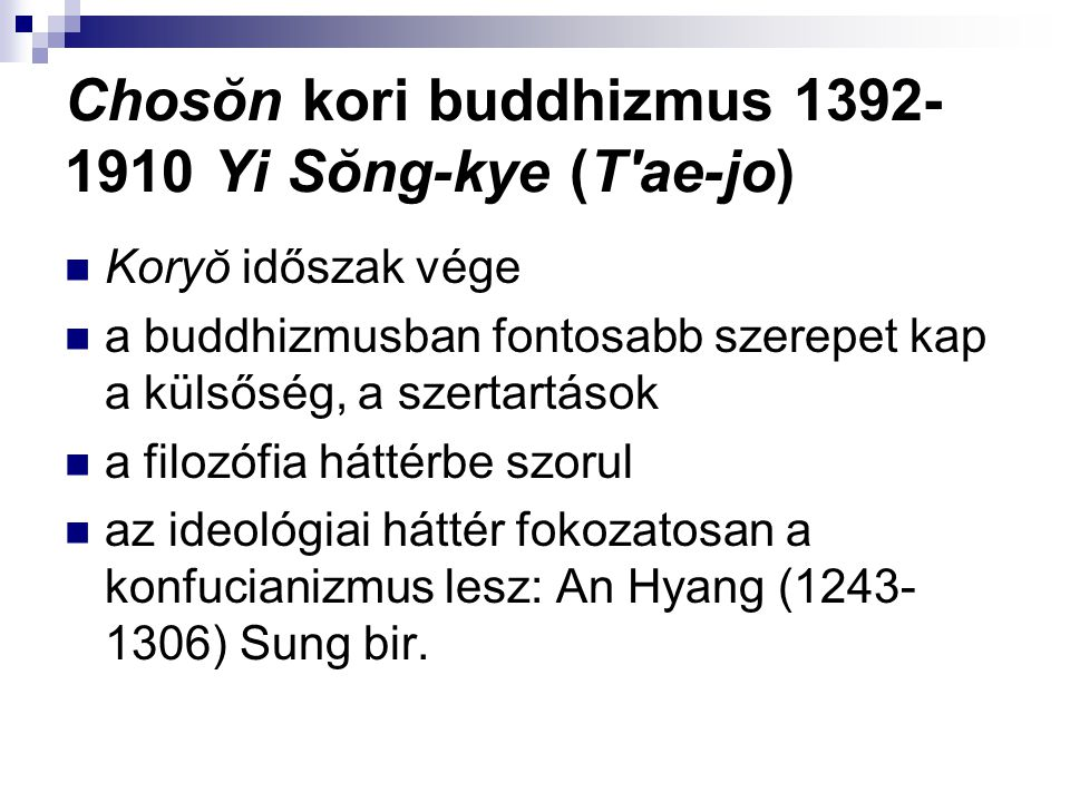 Chosŏn kori buddhizmus 1392-1910 Yi Sŏng-kye (T ae-jo)