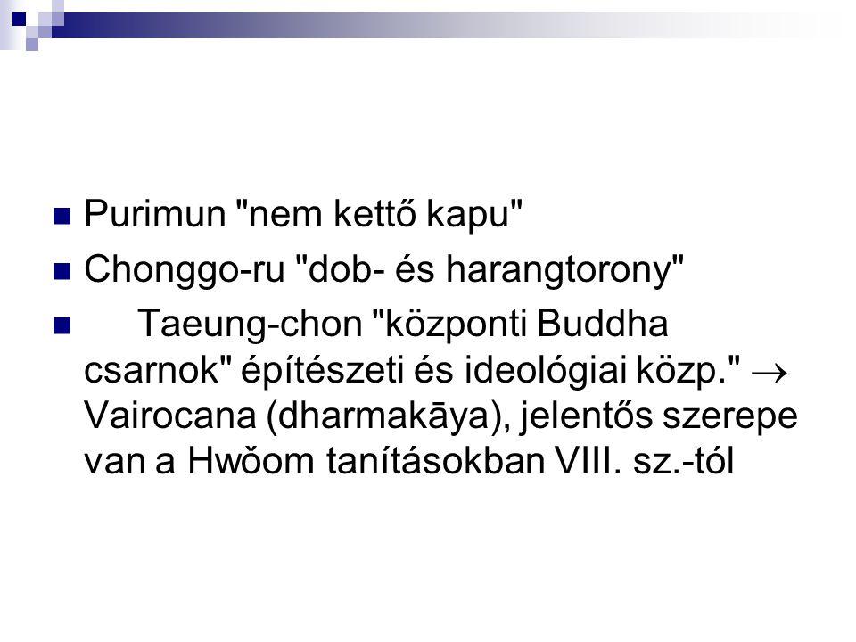 Purimun nem kettő kapu Chonggo-ru dob- és harangtorony