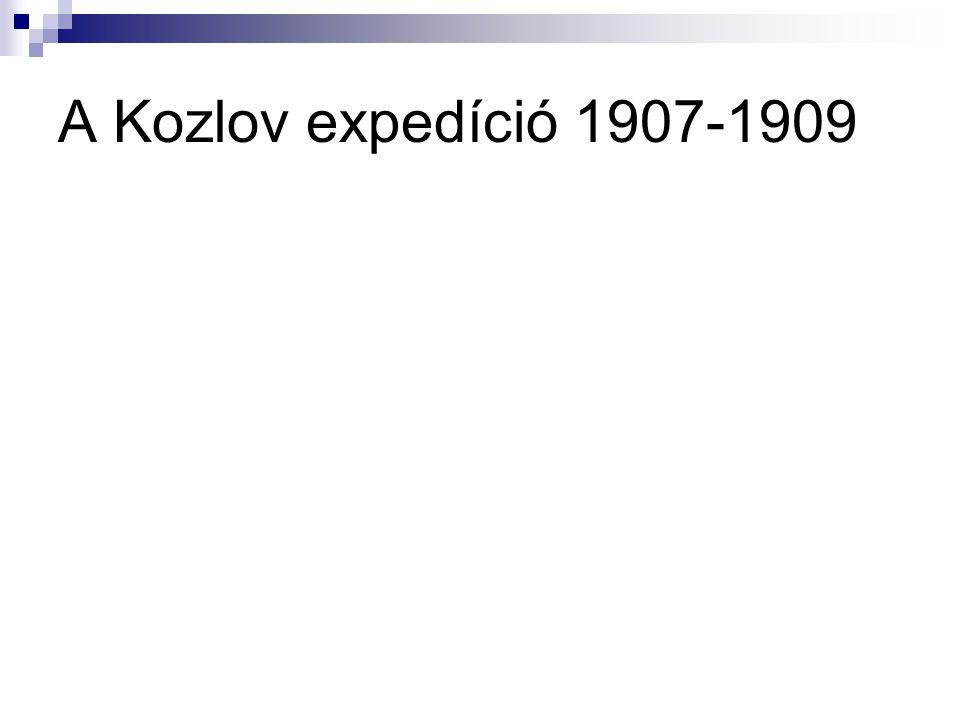 A Kozlov expedíció 1907-1909