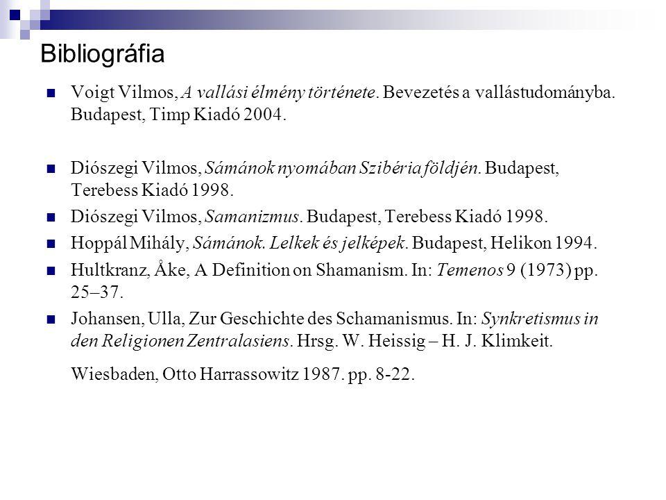 Bibliográfia Voigt Vilmos, A vallási élmény története. Bevezetés a vallástudományba. Budapest, Timp Kiadó 2004.