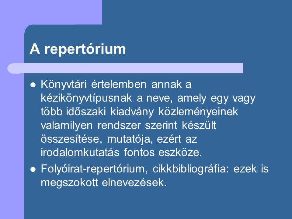 A repertórium