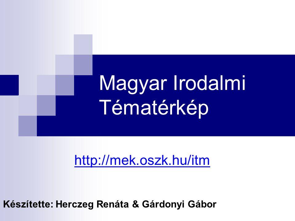 Magyar Irodalmi Tématérkép