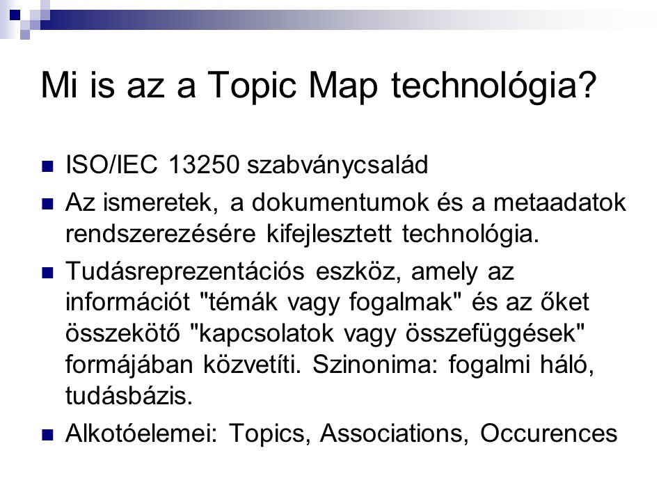 Mi is az a Topic Map technológia