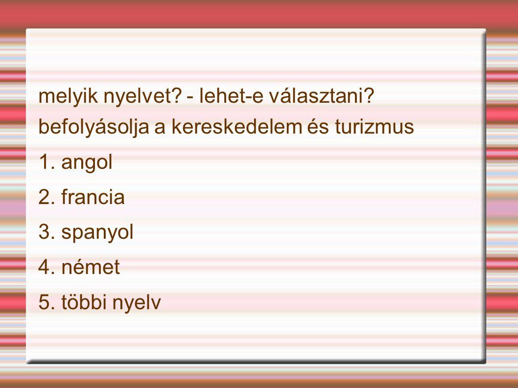 melyik nyelvet - lehet-e választani