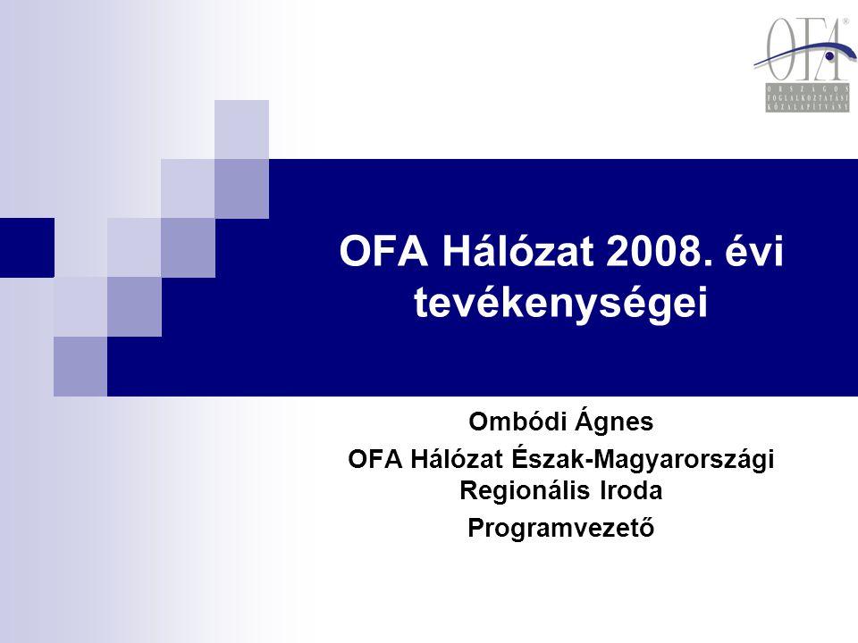 OFA Hálózat 2008. évi tevékenységei