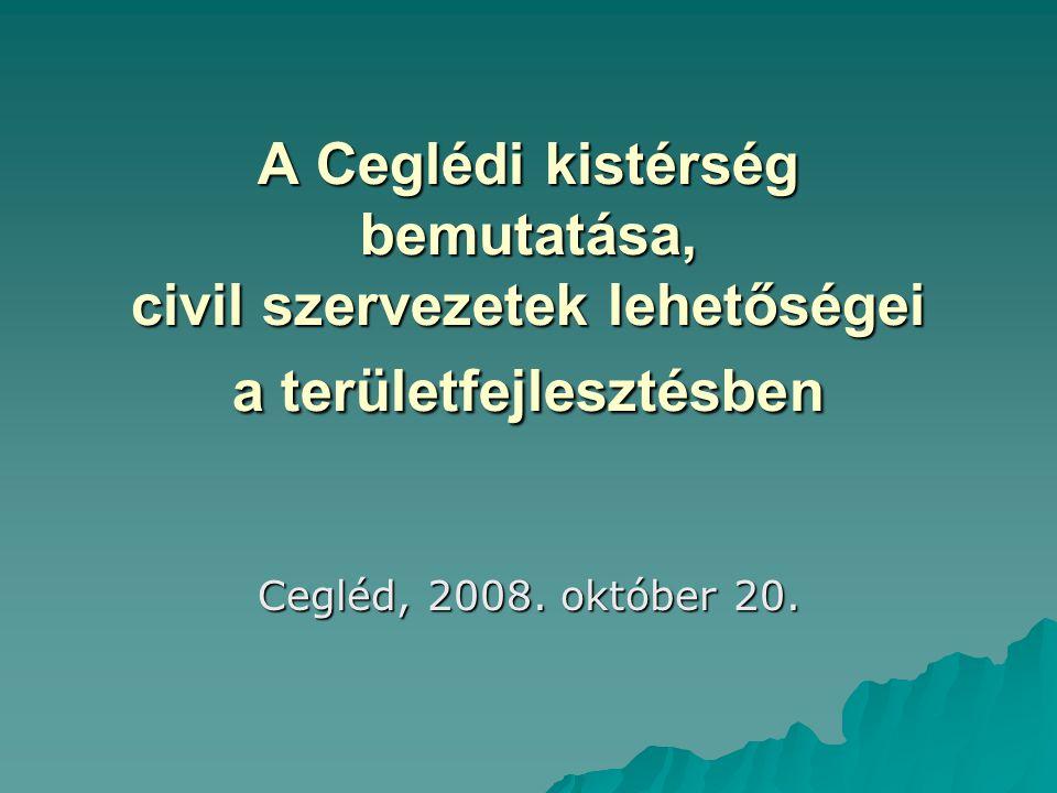 A Ceglédi kistérség bemutatása, civil szervezetek lehetőségei a területfejlesztésben