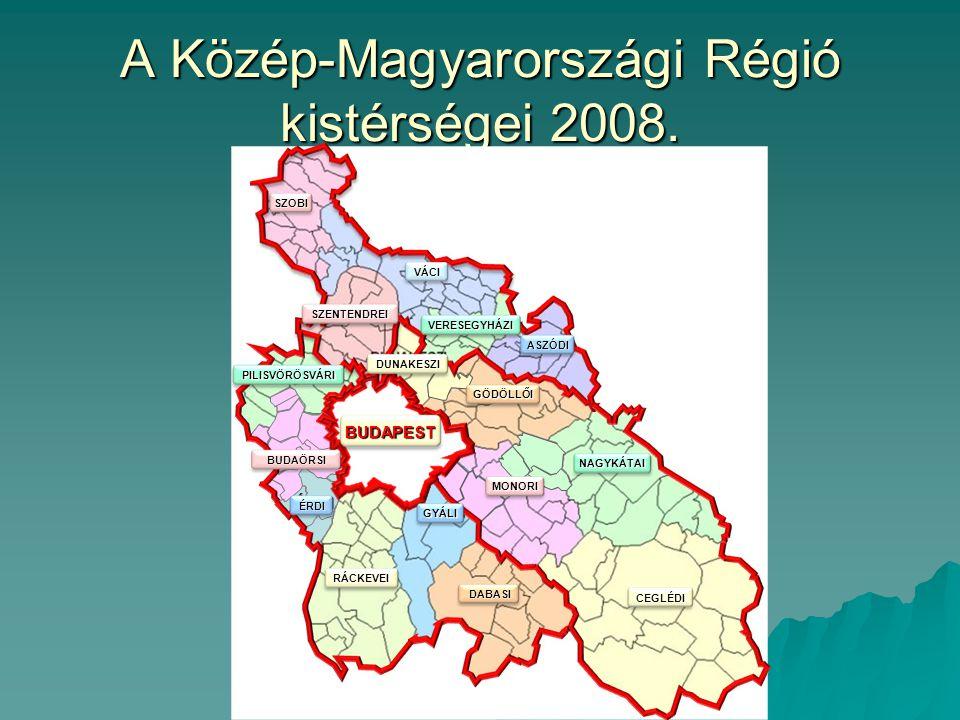 A Közép-Magyarországi Régió kistérségei 2008.