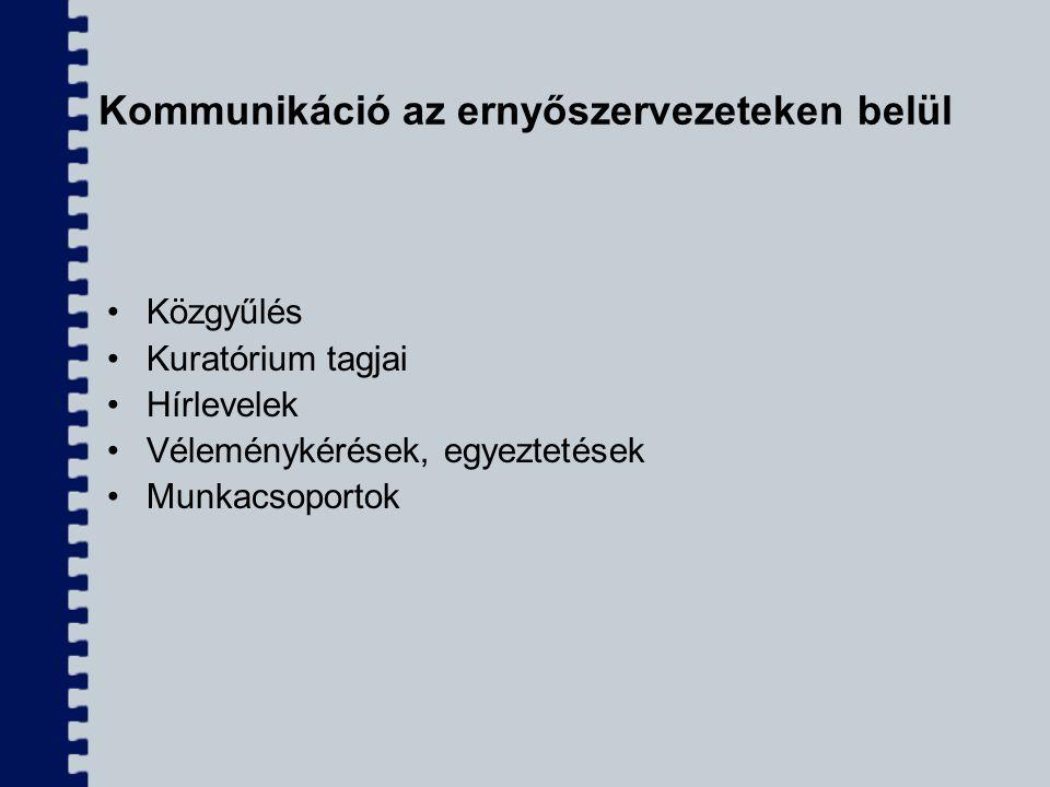 Kommunikáció az ernyőszervezeteken belül