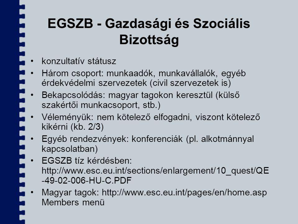 EGSZB - Gazdasági és Szociális Bizottság