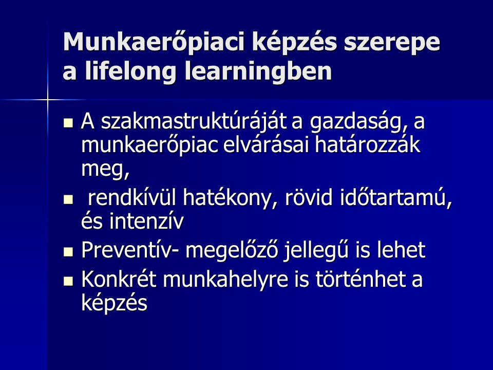 Munkaerőpiaci képzés szerepe a lifelong learningben