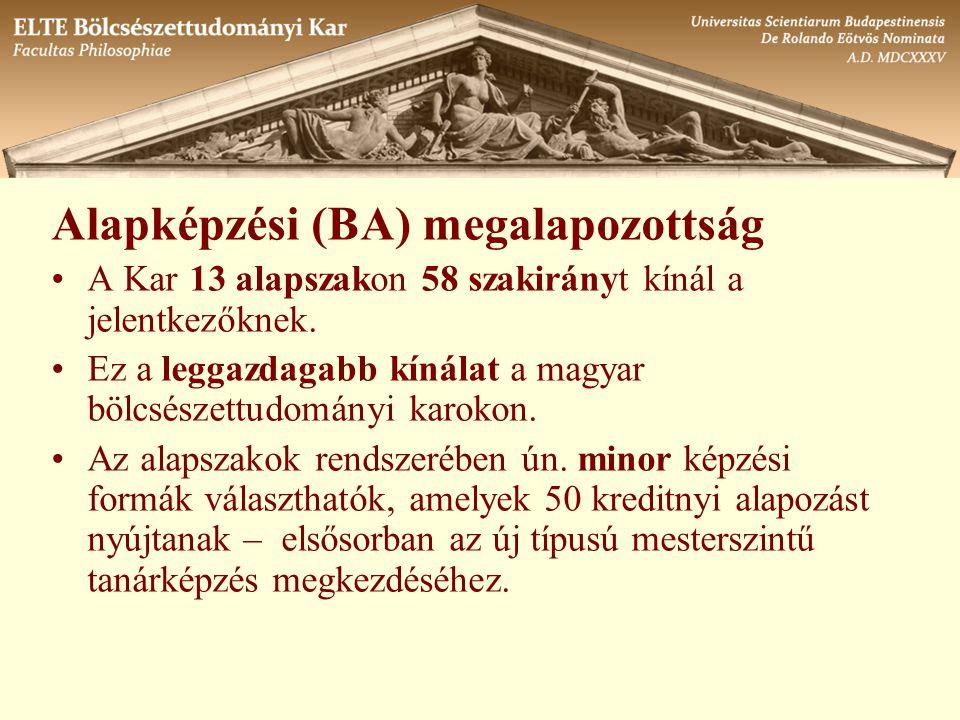 Alapképzési (BA) megalapozottság