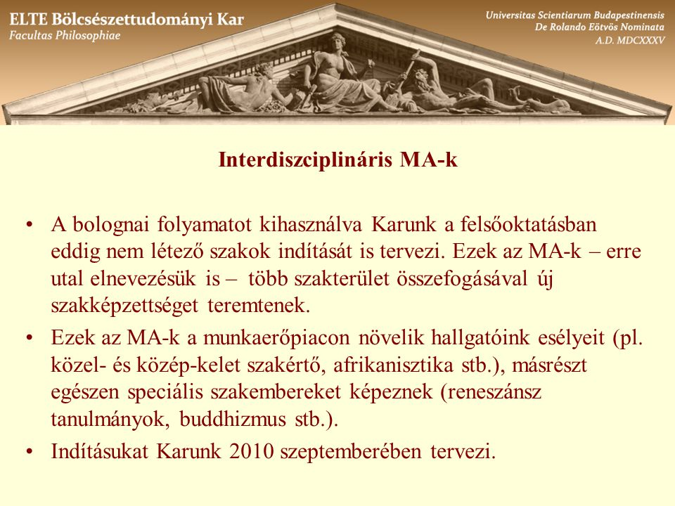 Interdiszciplináris MA-k