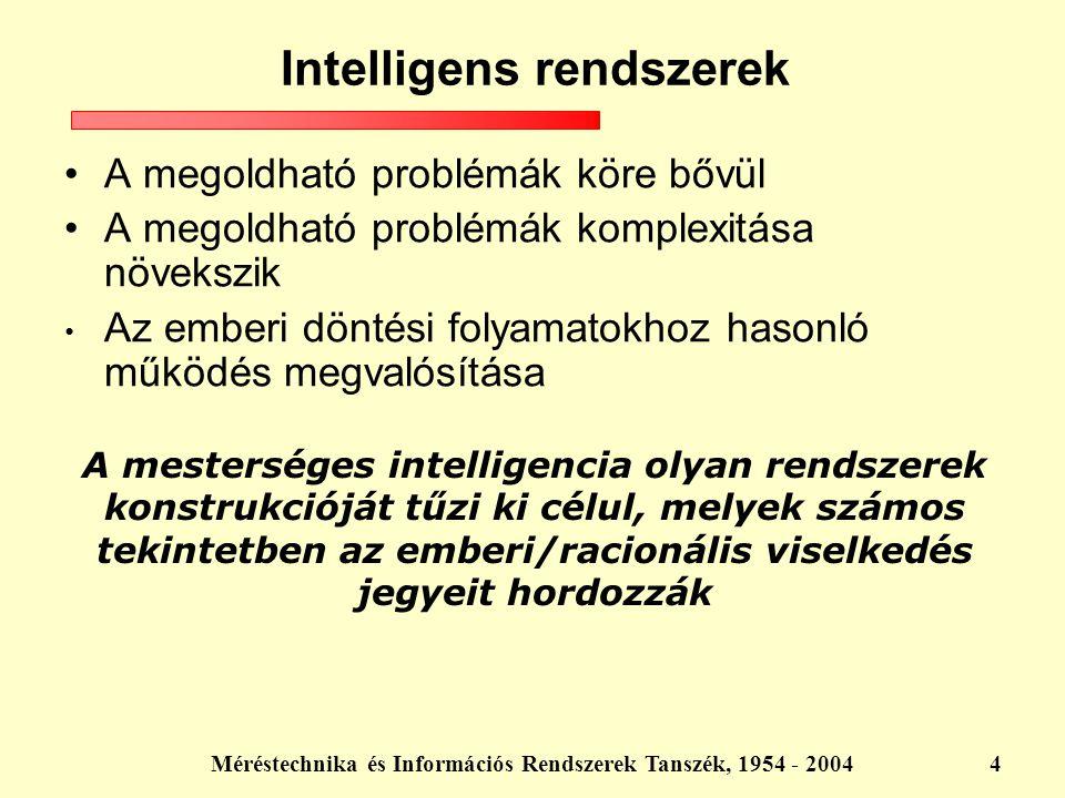 Intelligens rendszerek