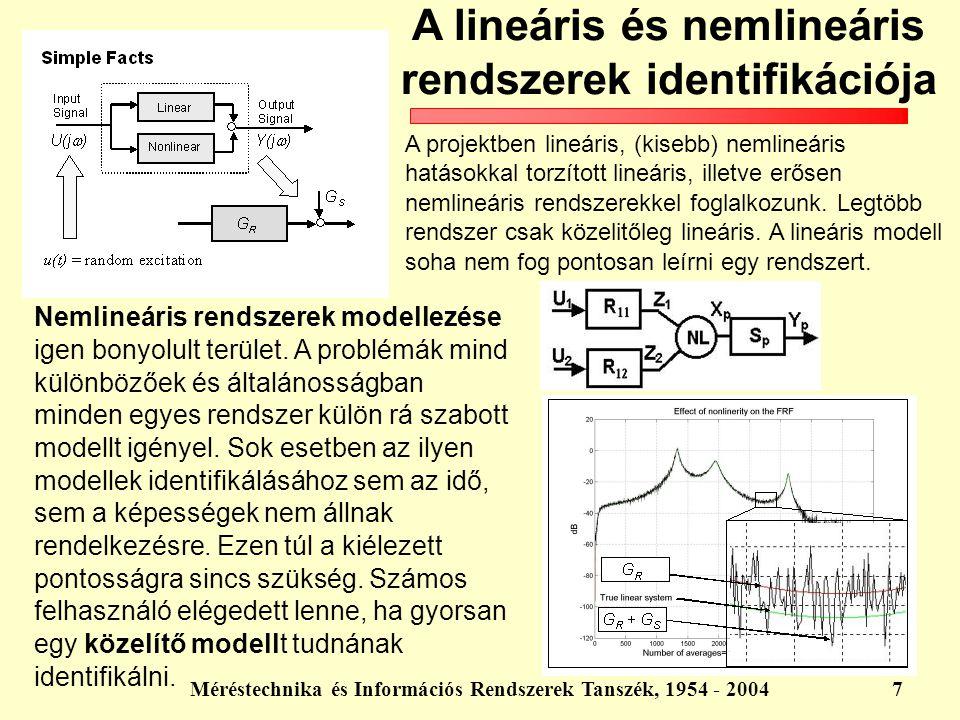 A lineáris és nemlineáris rendszerek identifikációja