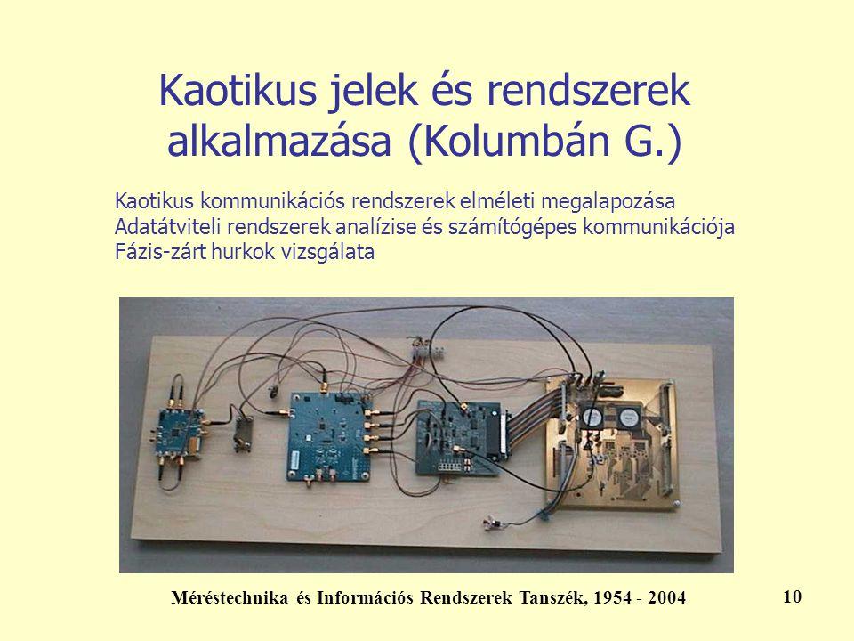 Kaotikus jelek és rendszerek alkalmazása (Kolumbán G.)