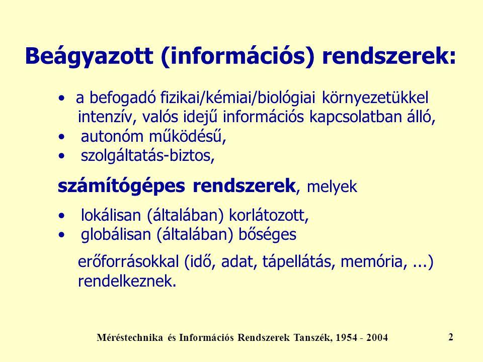 Beágyazott (információs) rendszerek:
