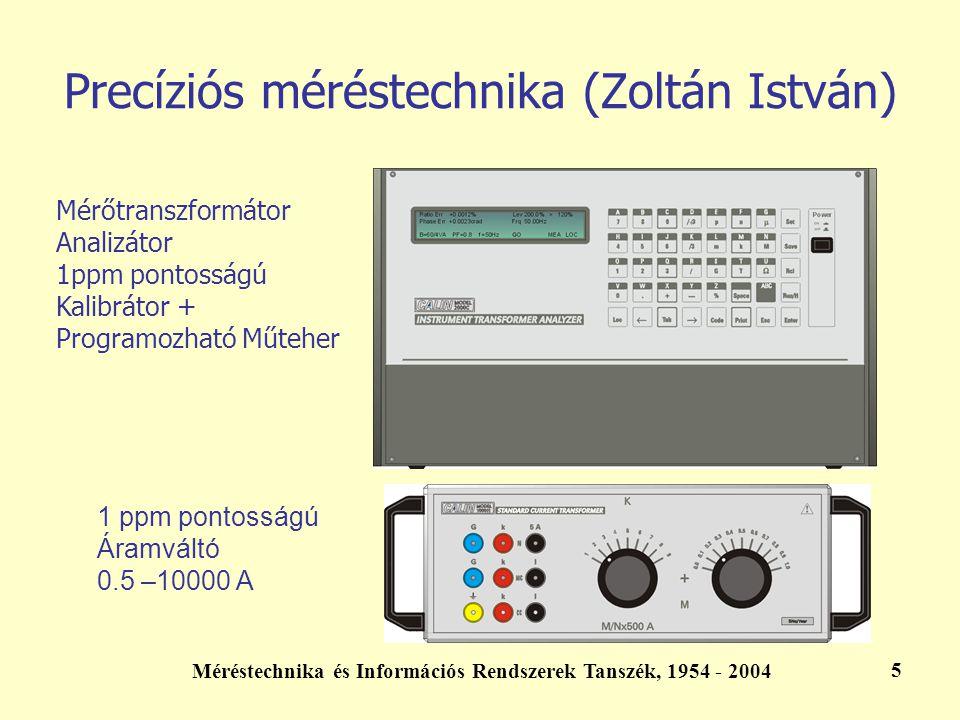 Precíziós méréstechnika (Zoltán István)