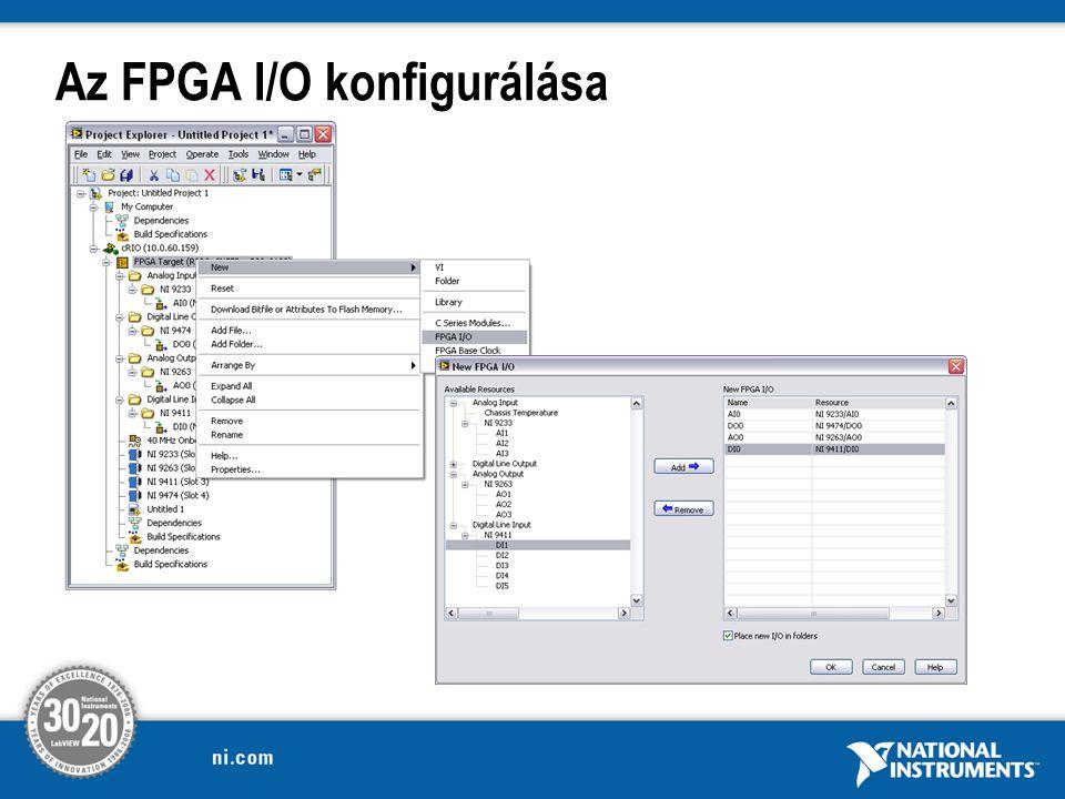 Az FPGA I/O konfigurálása