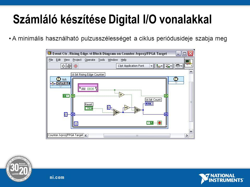 Számláló készítése Digital I/O vonalakkal