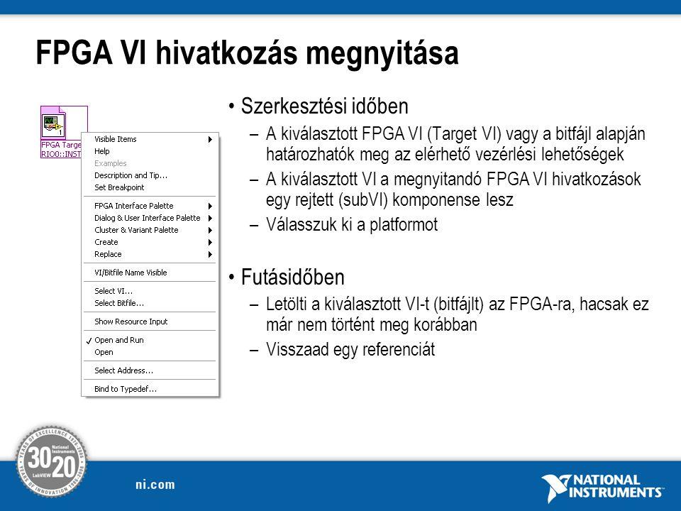FPGA VI hivatkozás megnyitása