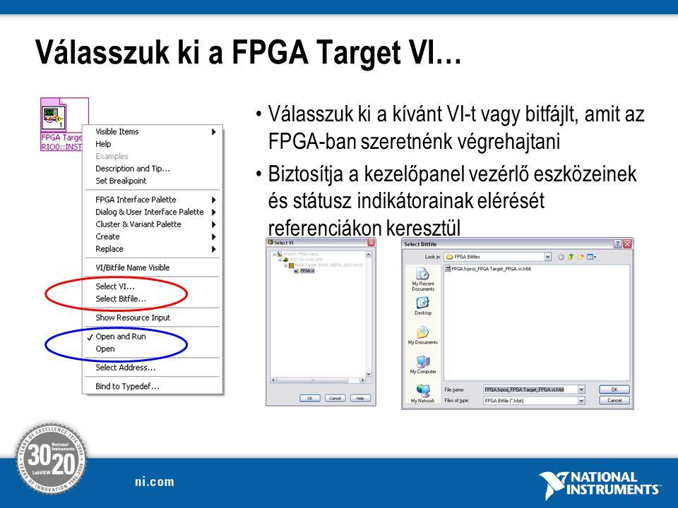 Válasszuk ki a FPGA Target VI…