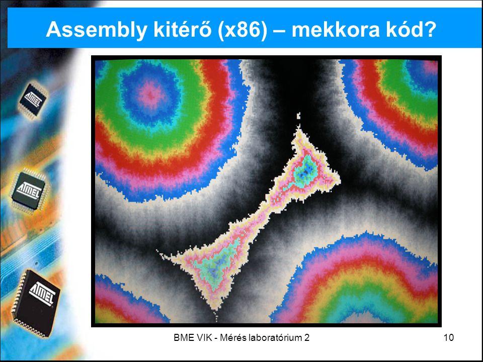 Assembly kitérő (x86) – mekkora kód