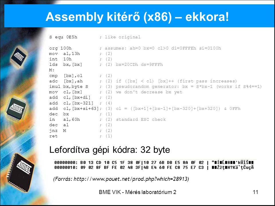 Assembly kitérő (x86) – ekkora!
