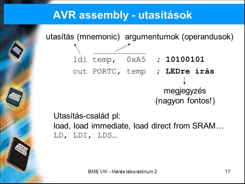 AVR assembly - utasítások