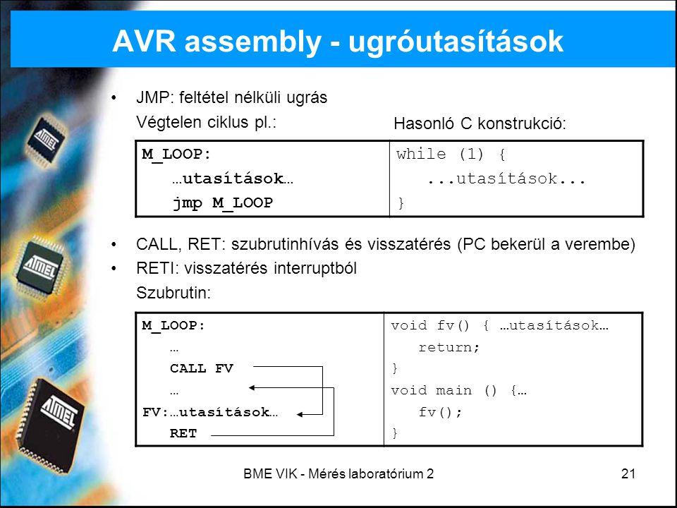 AVR assembly - ugróutasítások