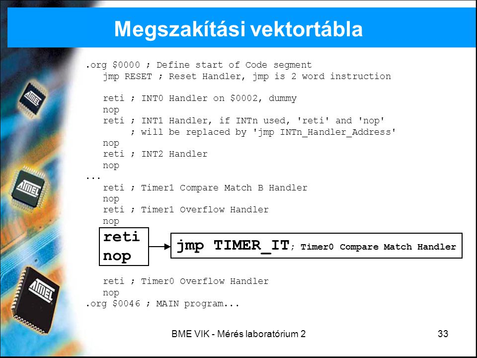 Megszakítási vektortábla