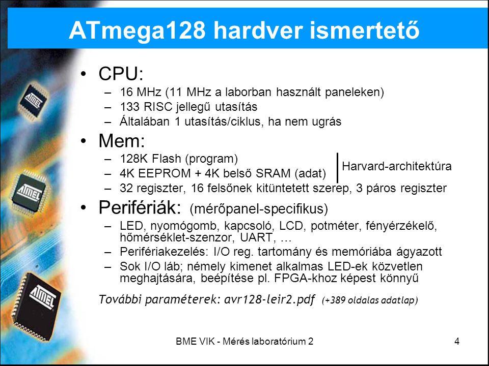 ATmega128 hardver ismertető