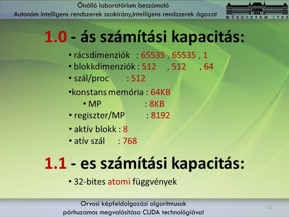 1.0 - ás számítási kapacitás:
